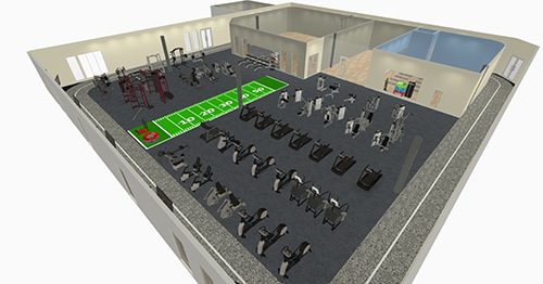 Walking Track Gym Rendering